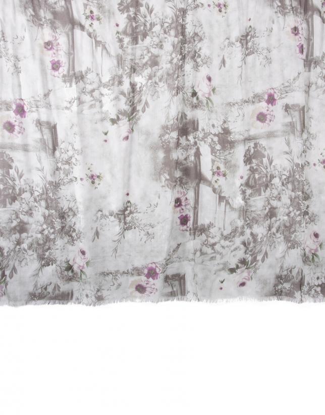 Foulard flores