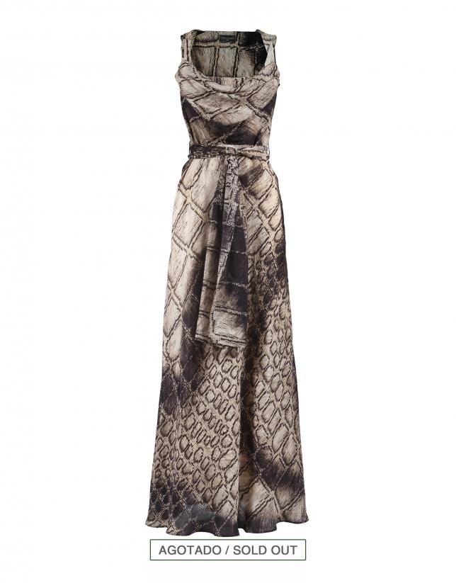 Long silk gown