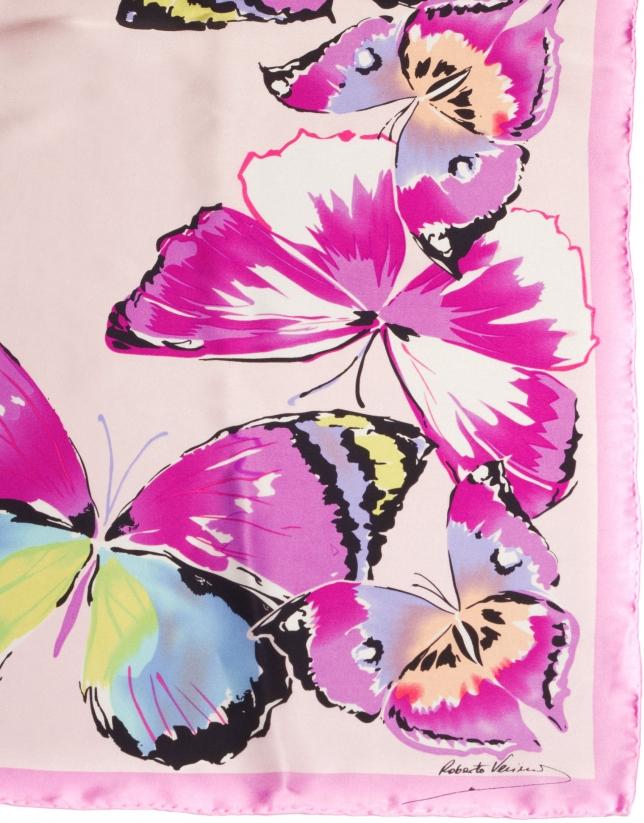 Foulard à motif papillons