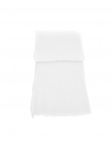 White silk scarf