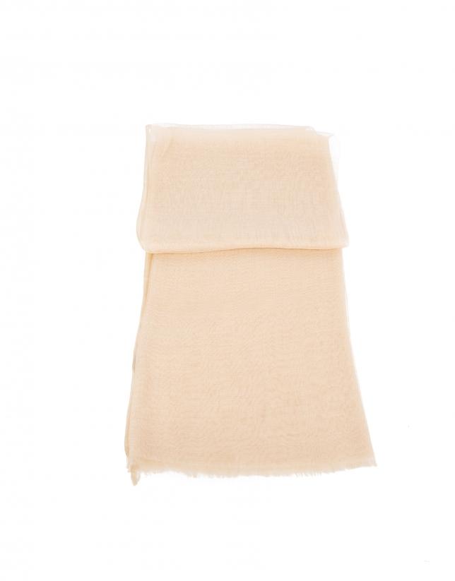 Beige silk scarf