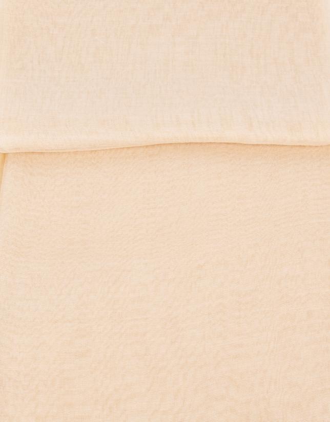 tole beige en soie