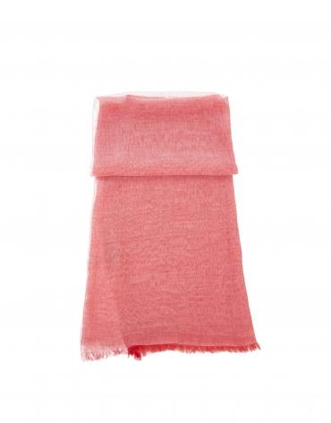 tole rouge en soie