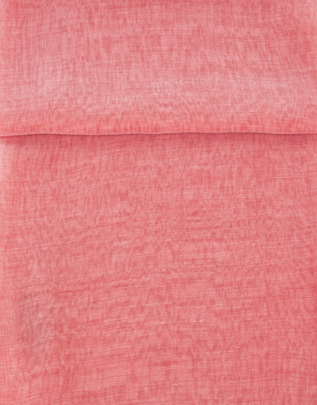 Foulard seda rojo