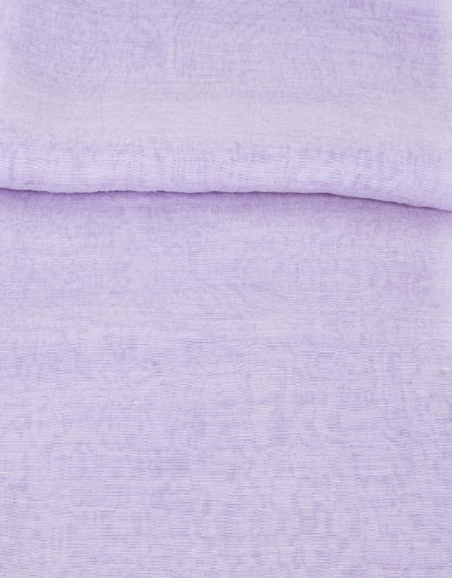 Mauve silk scarf
