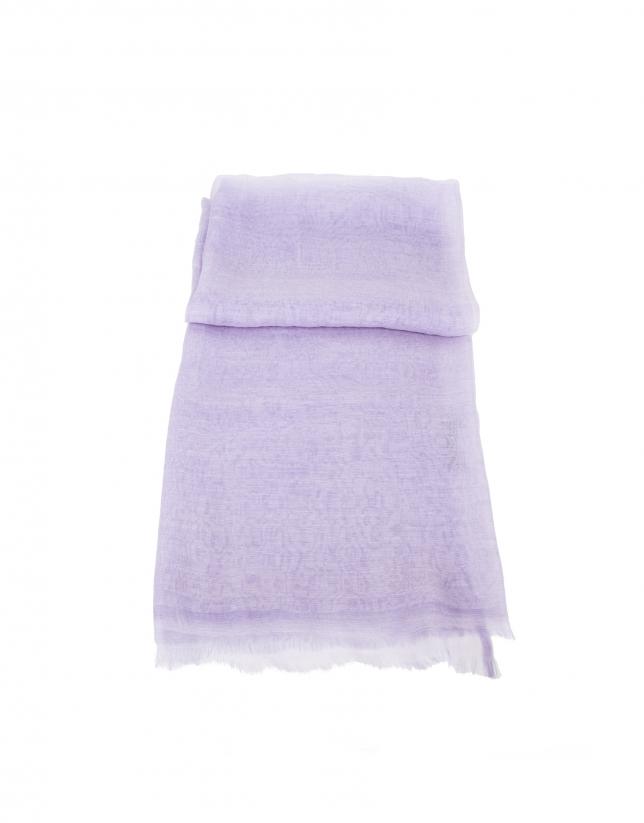 tole mauve en soie