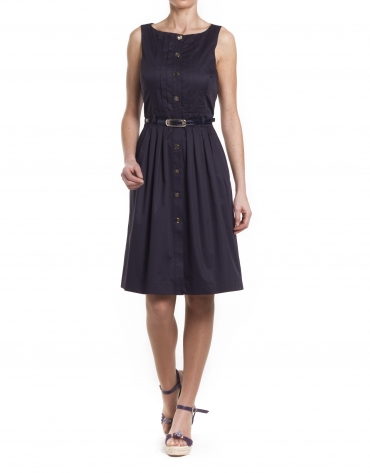 Navy dress with front opening