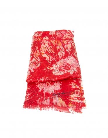 Foulard print floral rojo