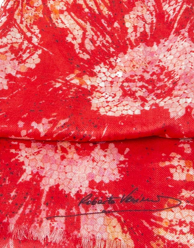 tole imprimé floral rouge