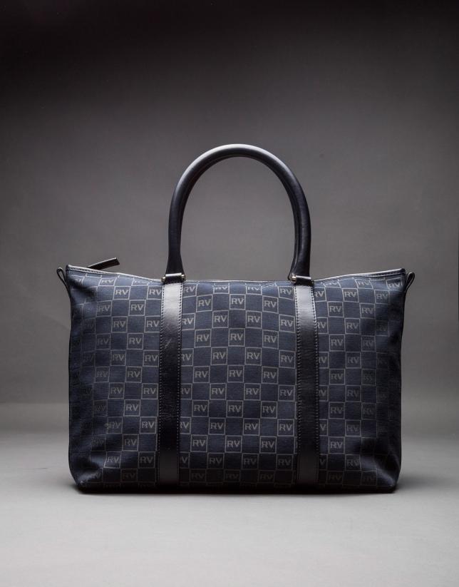 MÓNICA BLACK: Shopping RV jacquard and leather