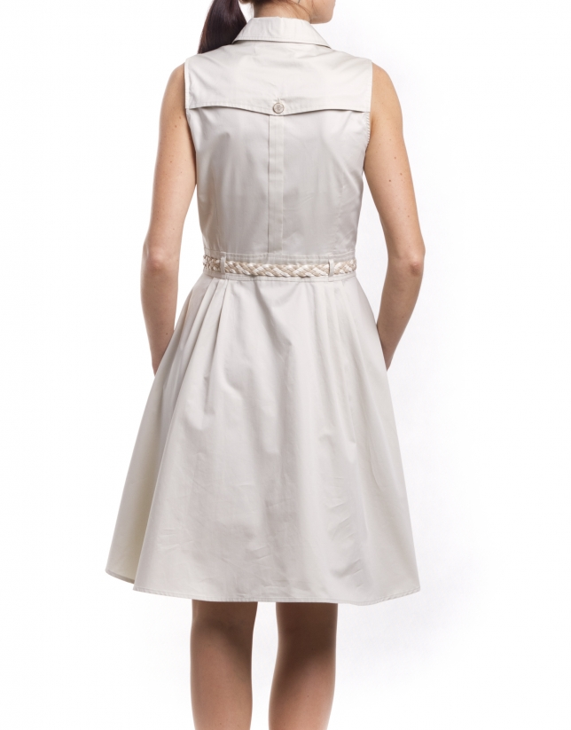 Flared shirtwaist dress