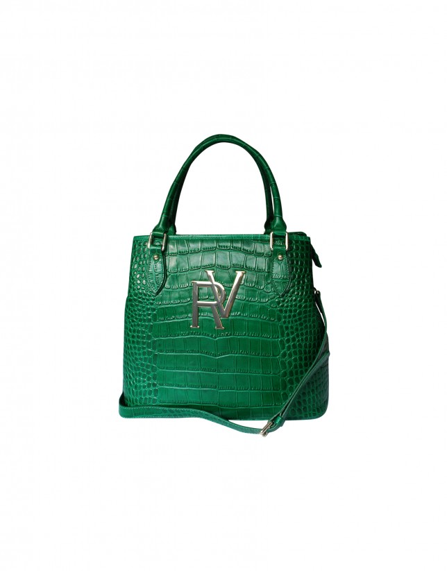 Large green tote bag