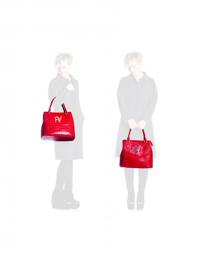 Large red tote bag