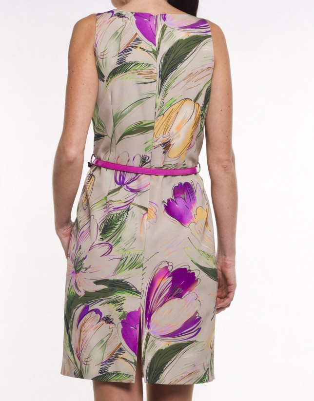 Print ottoman dress