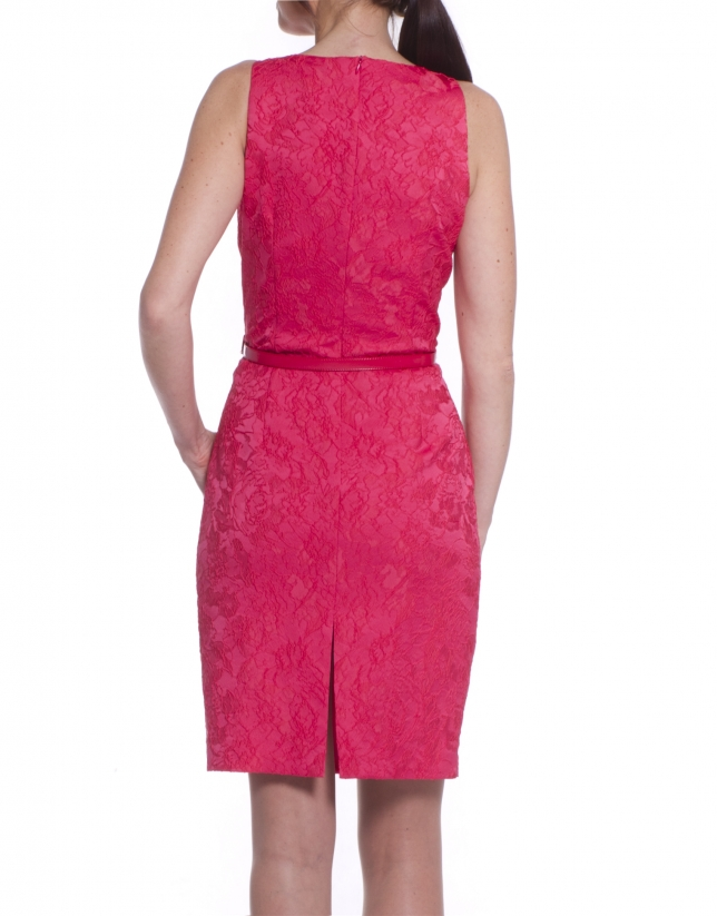Dress in coral flowers