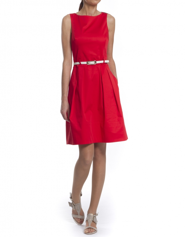 Vestido algodón rojo