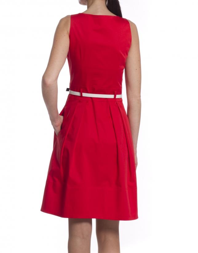 Robe coton rouge