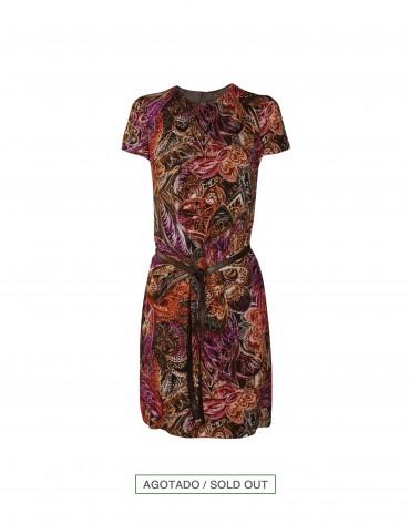 Vestido en viscosa estampado floral