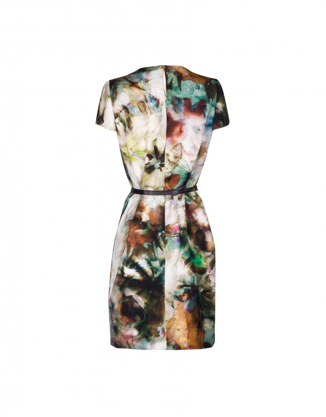 Abstract print dress