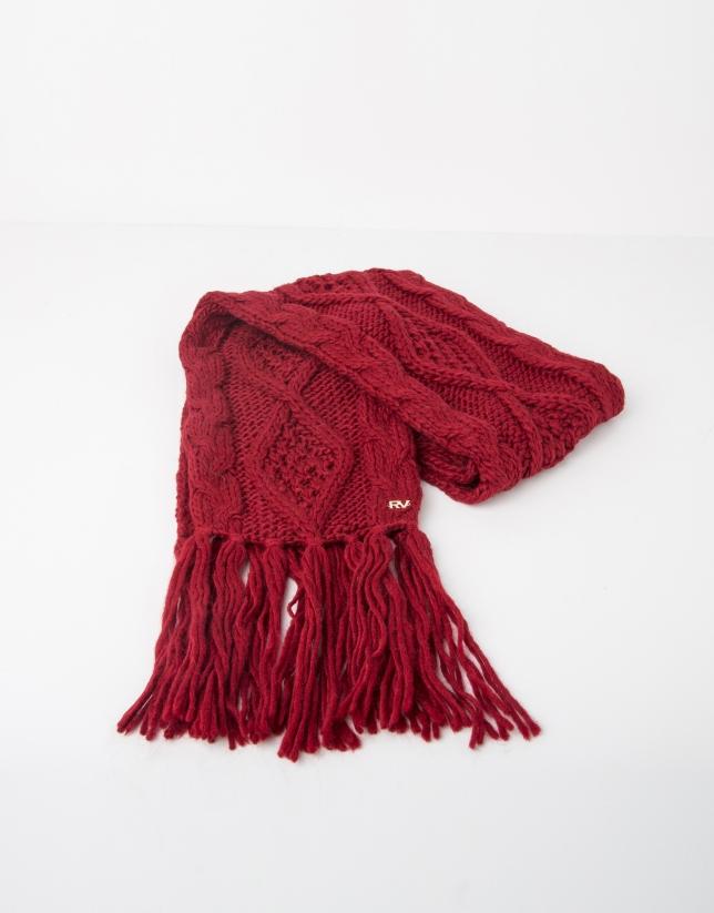 Echarpe en laine rouge