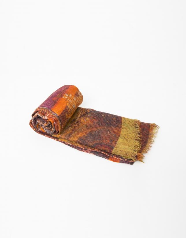 Foulard en laine et soie or
