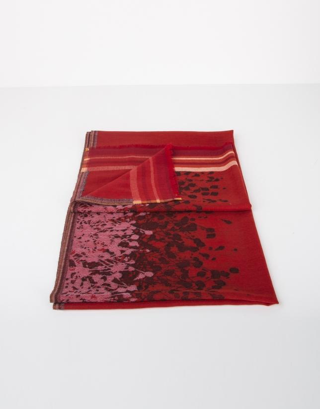 Foulard en laine rouge