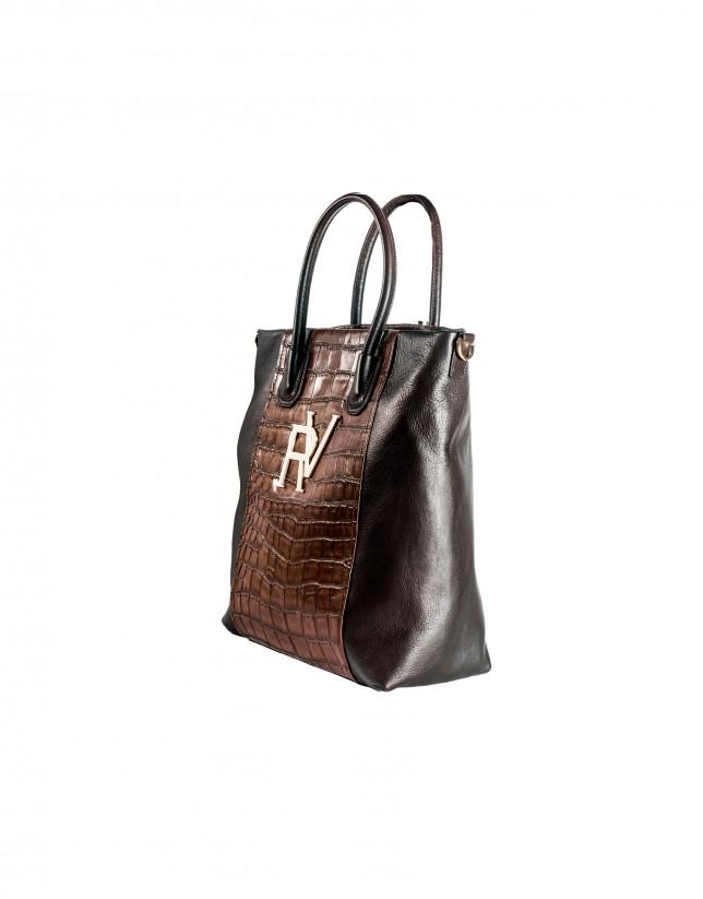 Bolso shopping góndola marrón