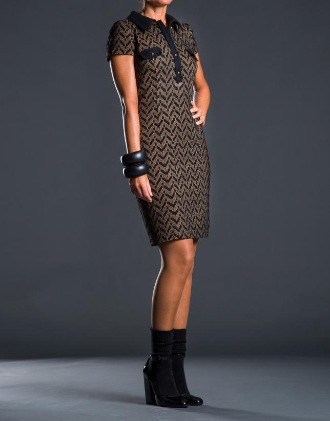 Vestido  camisero estampado geométrico