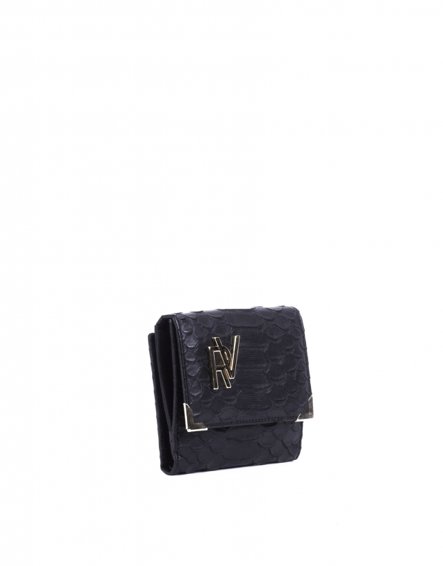 Embossed-crocodile wallet