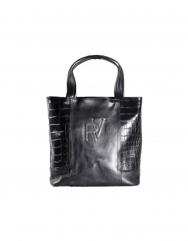Grey lateral combined shopping bag.
