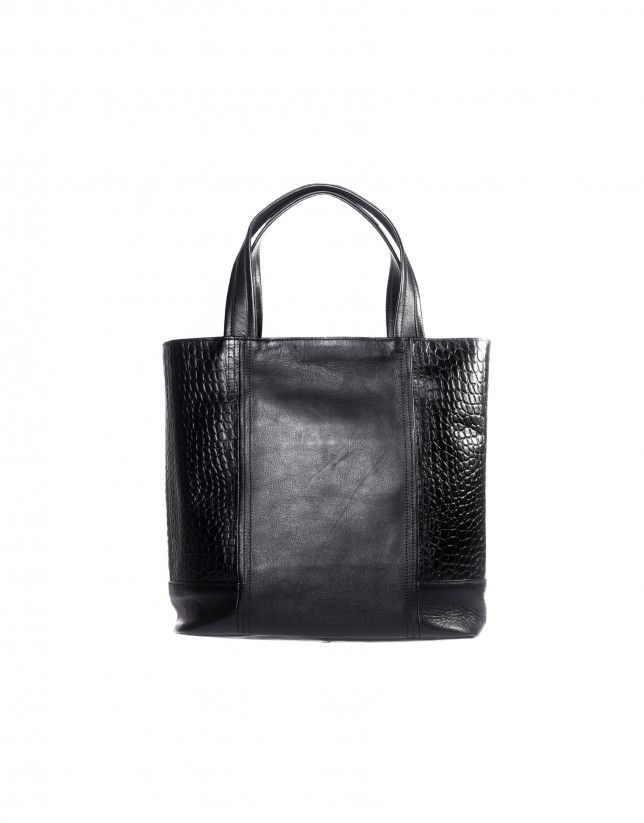 Black combined shopping bag