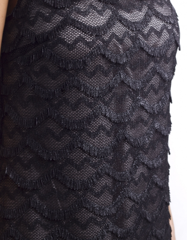 Robe maille résille