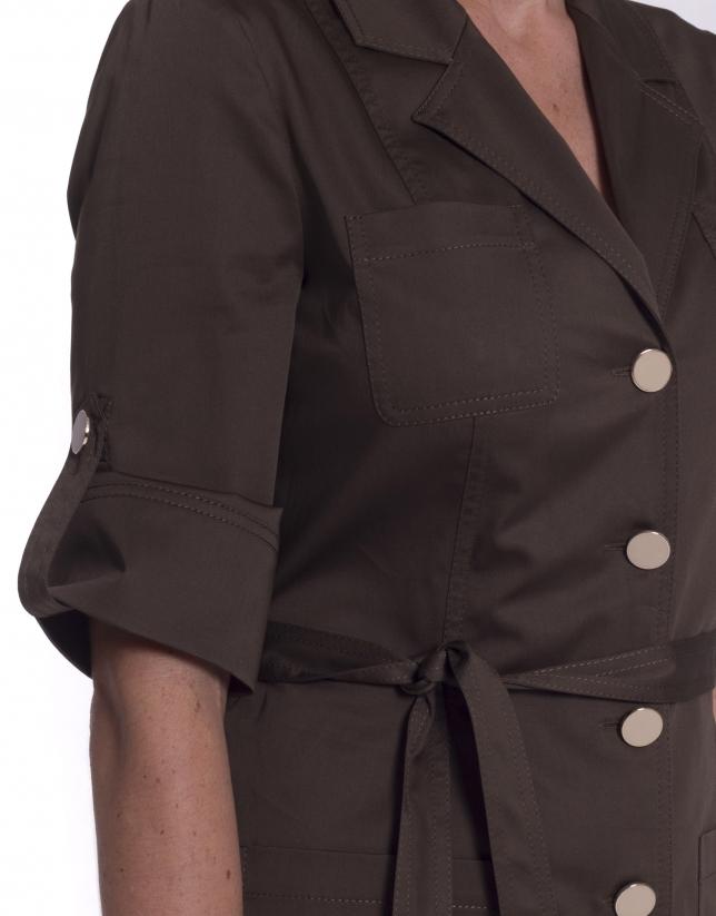 Khaki shirtwaist