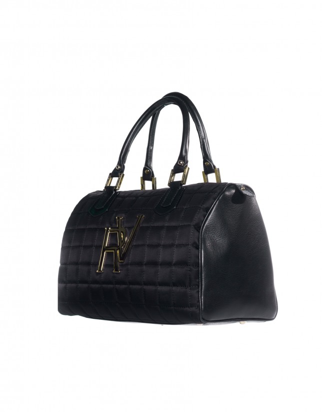 Black bowling bag