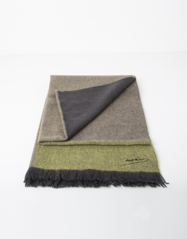 Foulard lana liso verde