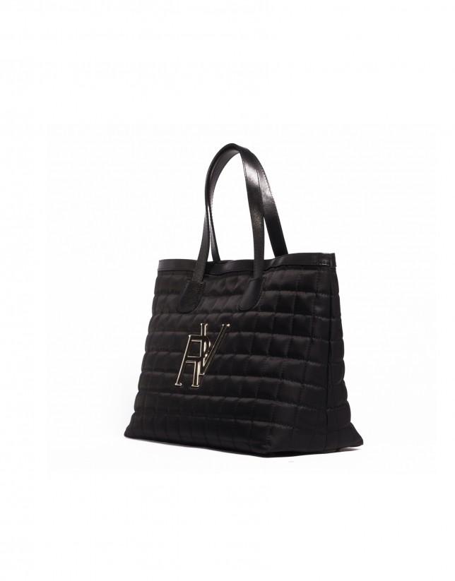 Bolso shopping acolchado negro