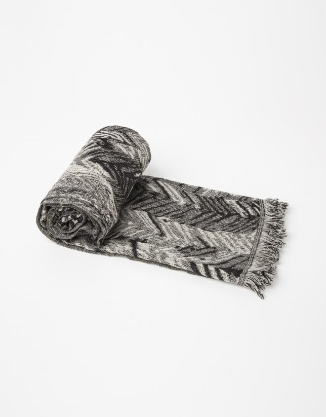 Foulard lana estampado geométrico