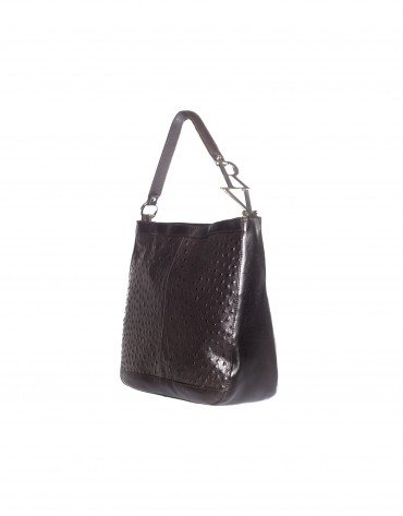 Medium square bag ostrich
