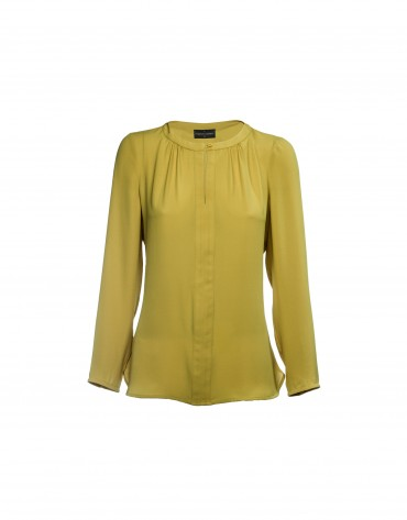 Long sleeved pale yellow blouse