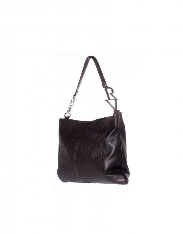 Large rectangular bag ostrich