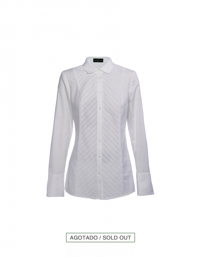 Camisa blanca con jaretas