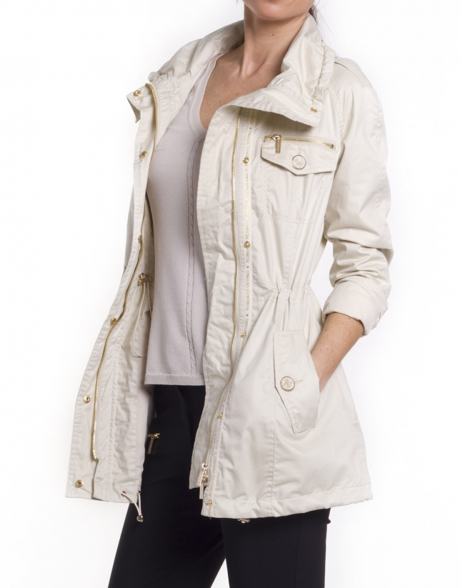 Trench largo beige