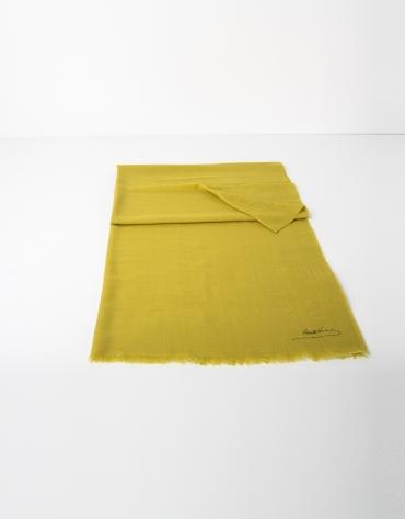 Foulard uni en laine couleur moutarde