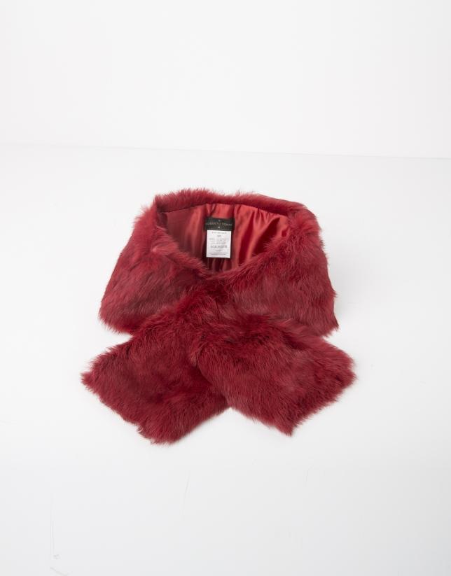 Bufanda cuello pelo rojo