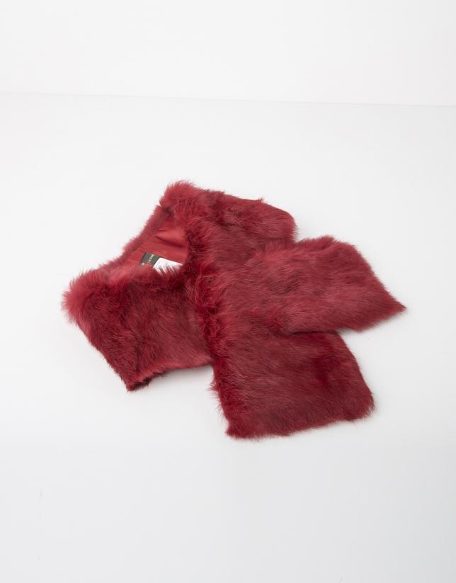 Echarpe col en fourrure red