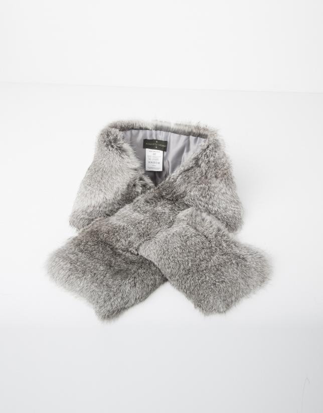 Bufanda cuello pelo gris