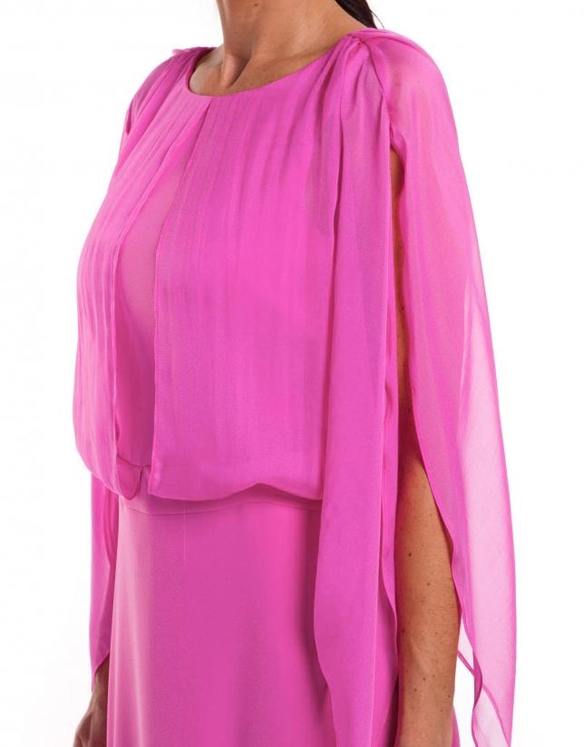 Robe longue fuchsia