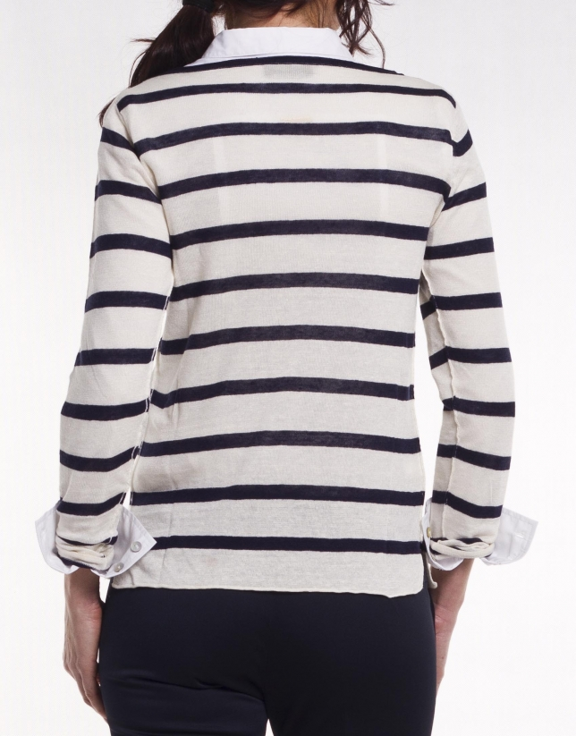 Long sleeve striped jersey