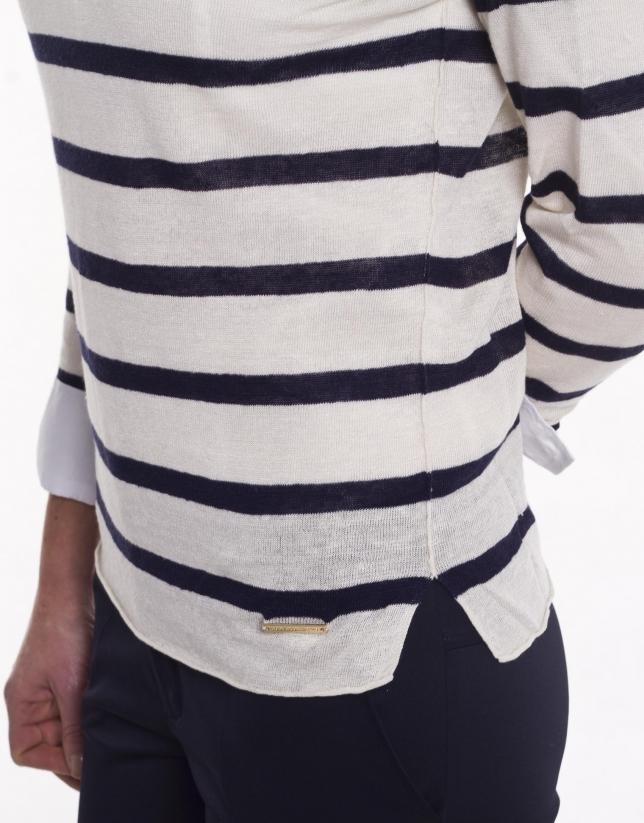 Jersey de rayas manga larga