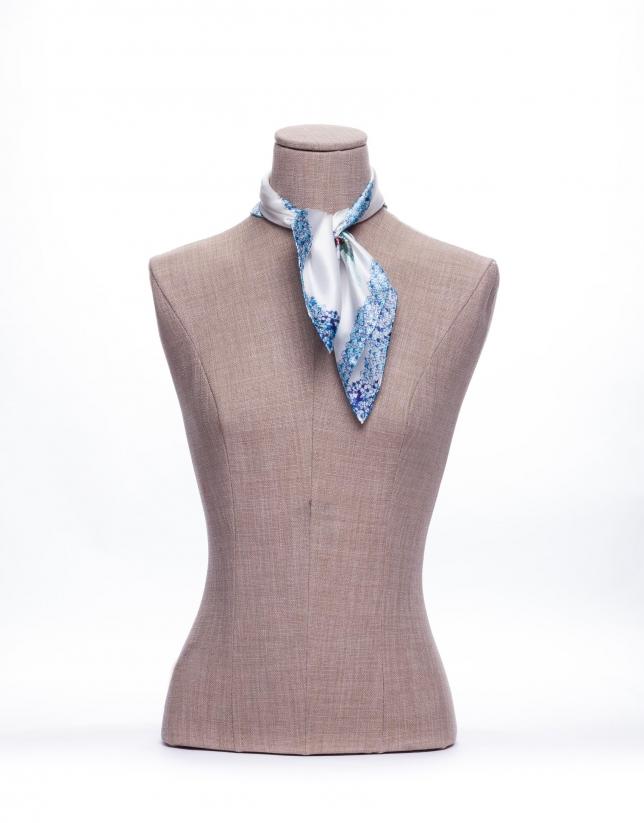 Blue logo scarf
